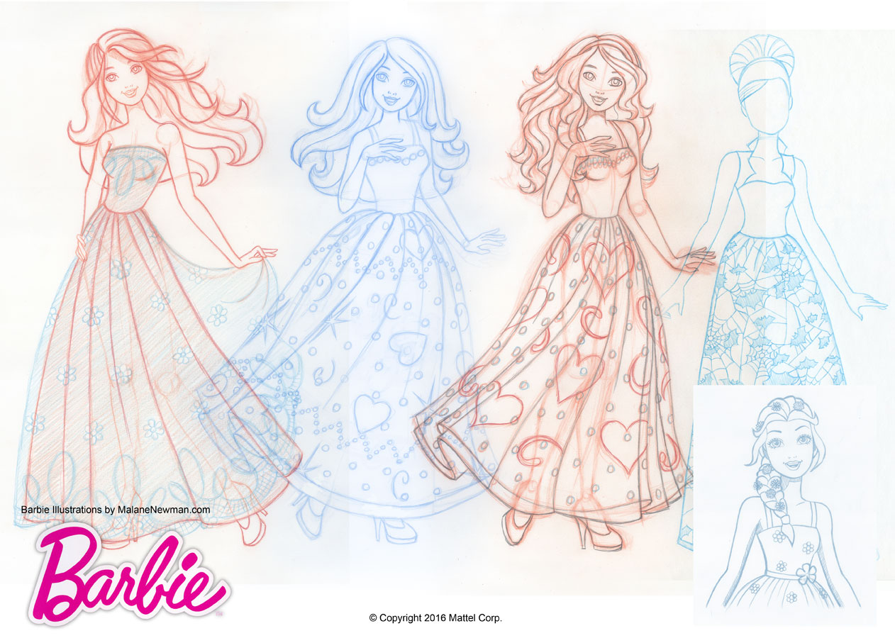 1262x900 Freelance Illustrations For Barbie Magazine