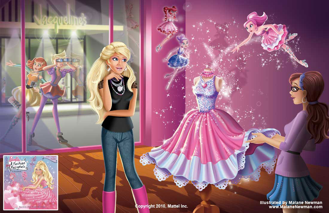 1100x712 My Work As Colorist On Mattel's Barbie Storybook