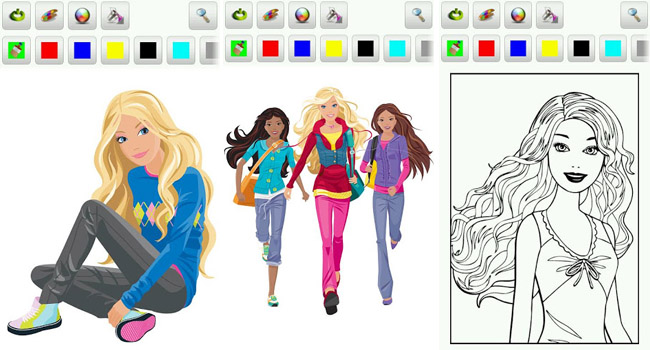 650x350 Barbie Printing Games Barbie Coloring Pages Android Games 365 Free