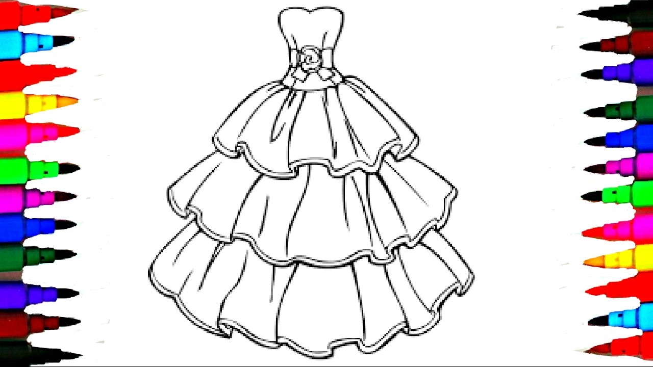 1280x720 Barbie Glamour Dress 2 Best Learning Coloring Book L Page