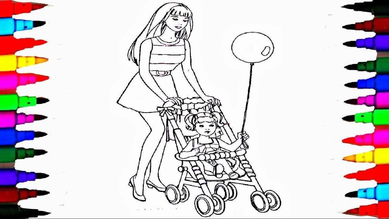 1280x720 Coloring Pages Barbie And Chelsea In The Stroller Coloring Book
