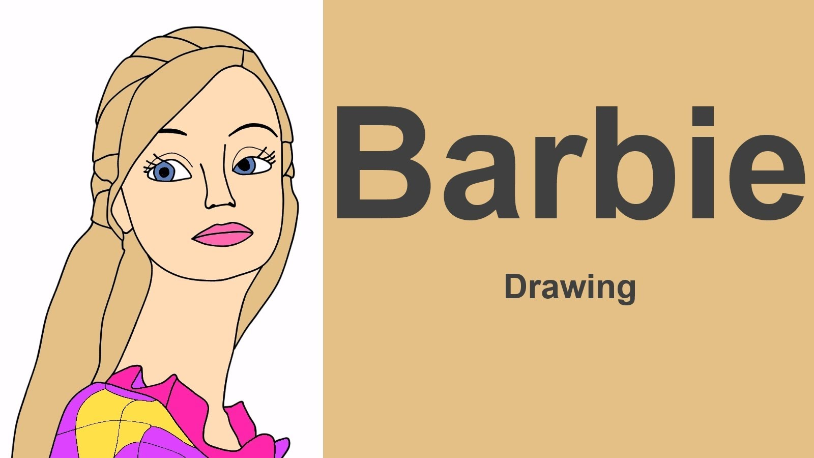 1600x900 Barbie Drawing