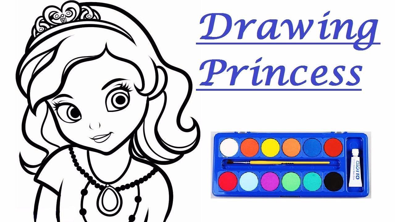 1280x720 Barbie Drawing Princess