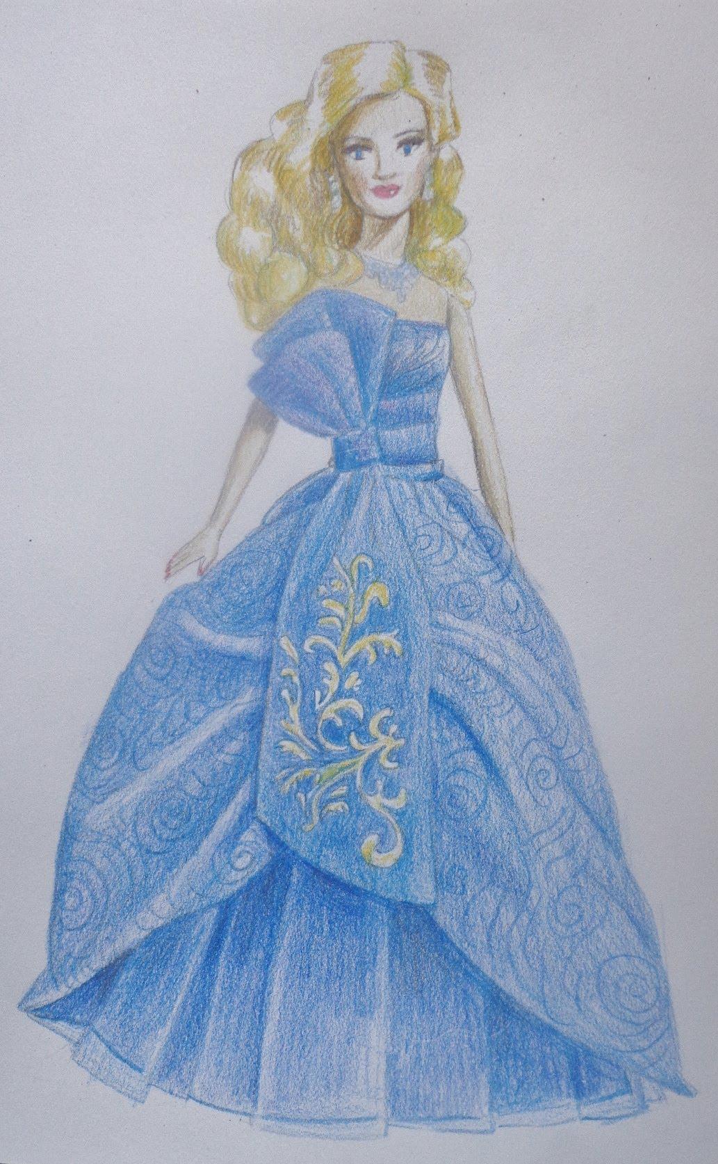 1033x1673 How To Draw A Barbie