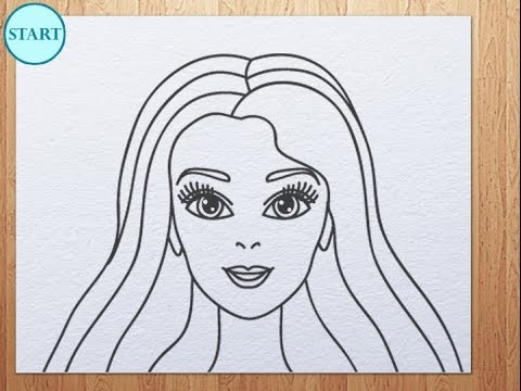480x360 How To Draw Barbie Face Kids Art Hub Art Hub