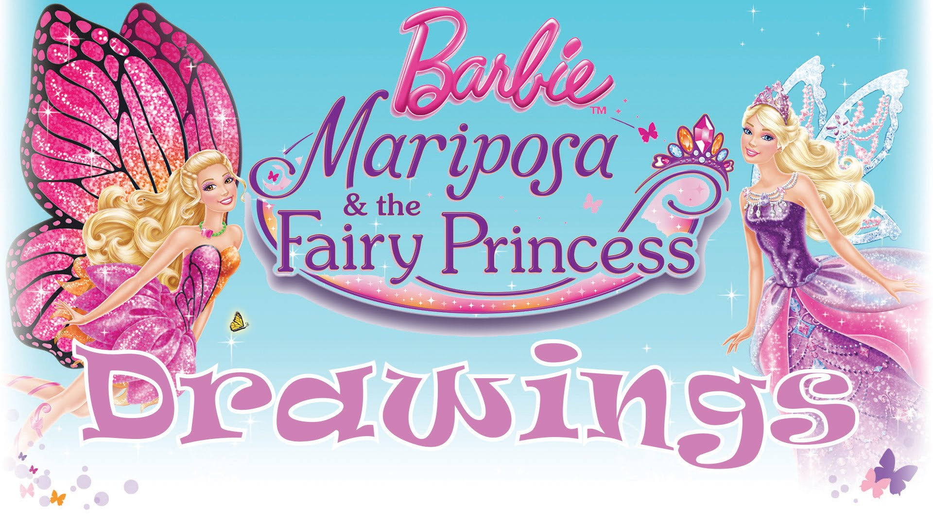 1920x1080 Barbie Mariposa And The Fairy Princess Drawings!!!