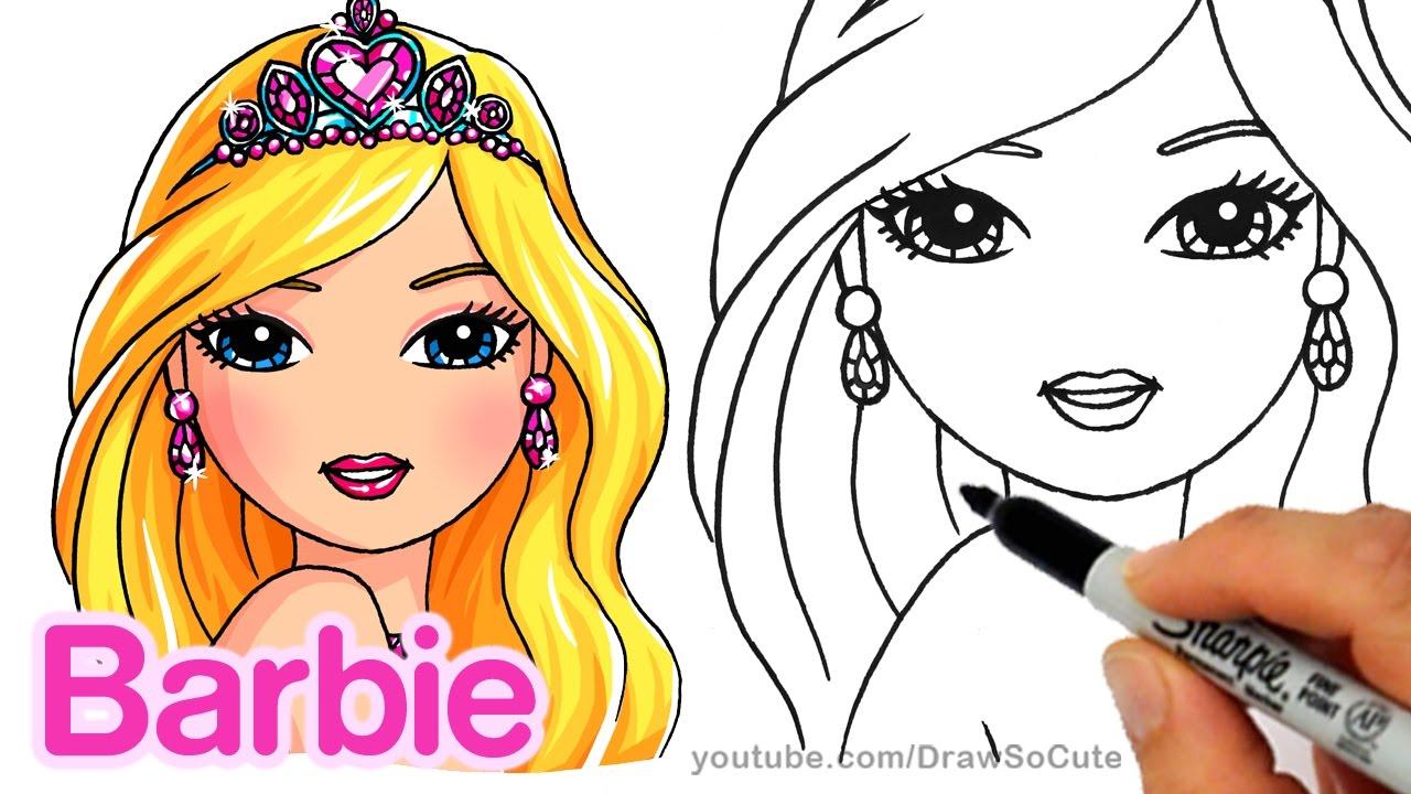 1280x720 How To Draw Barbie