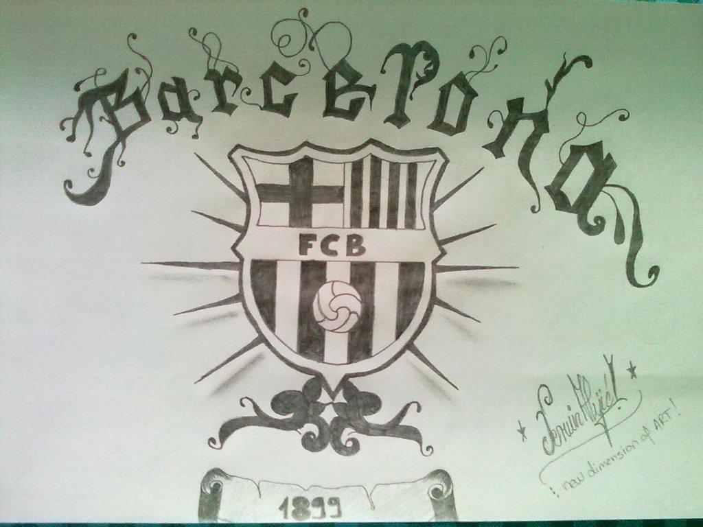 1024x768 Barcelona Hand Drawing By Peewee5