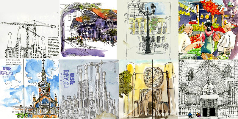 800x400 Barcelona Is Pure Eye Candy For Urban Sketchers Who Love To Draw