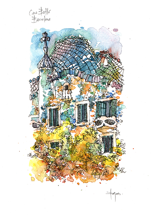 539x763 Casa Limited Edition Print Antoni Eixample