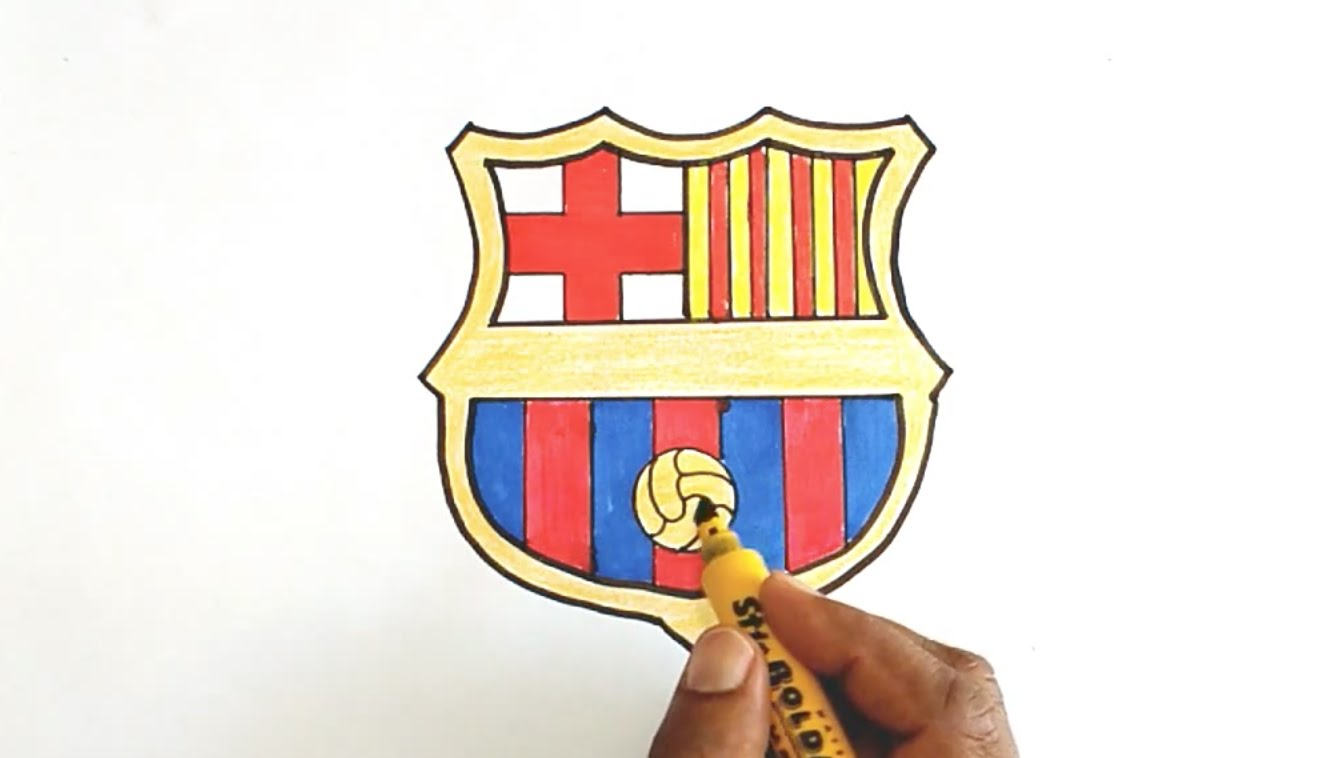 1340x758 How To Draw The Fc Barcelona Logo