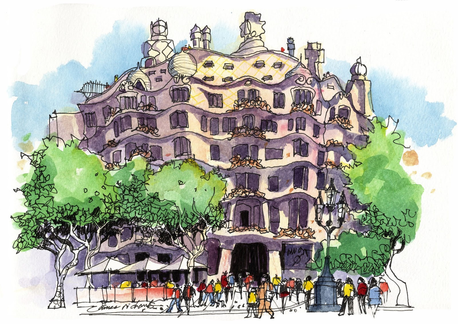 1600x1131 I'Ve Just Returned From Barcelona, Where I Taught Sketching