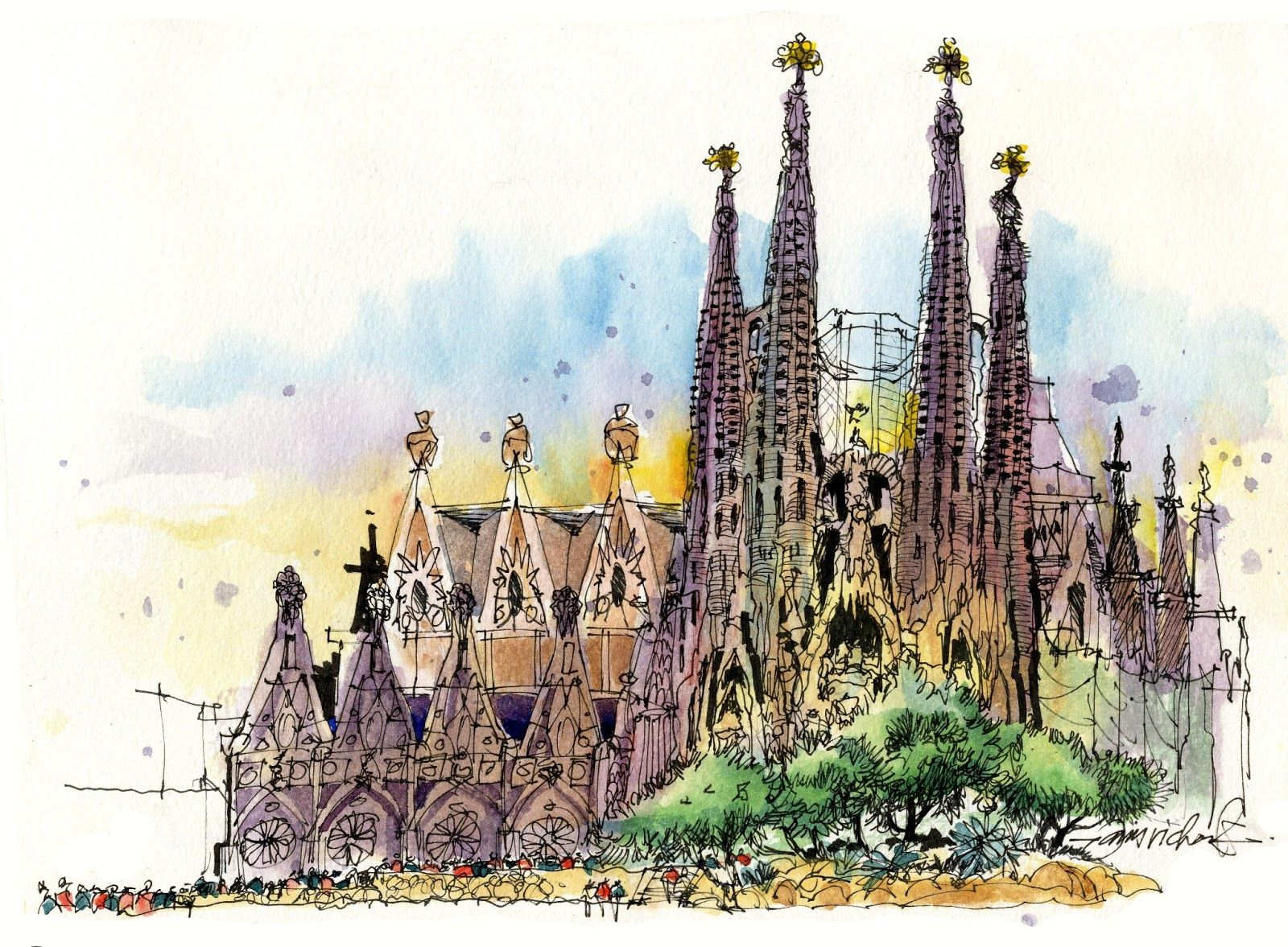 1600x1177 James Richards Sketchbook Return From Barcelona! Water Colors