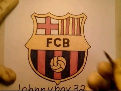 400x300 Draw, How To Draw Fc Barcelona Logo Sign Easy Step By Step