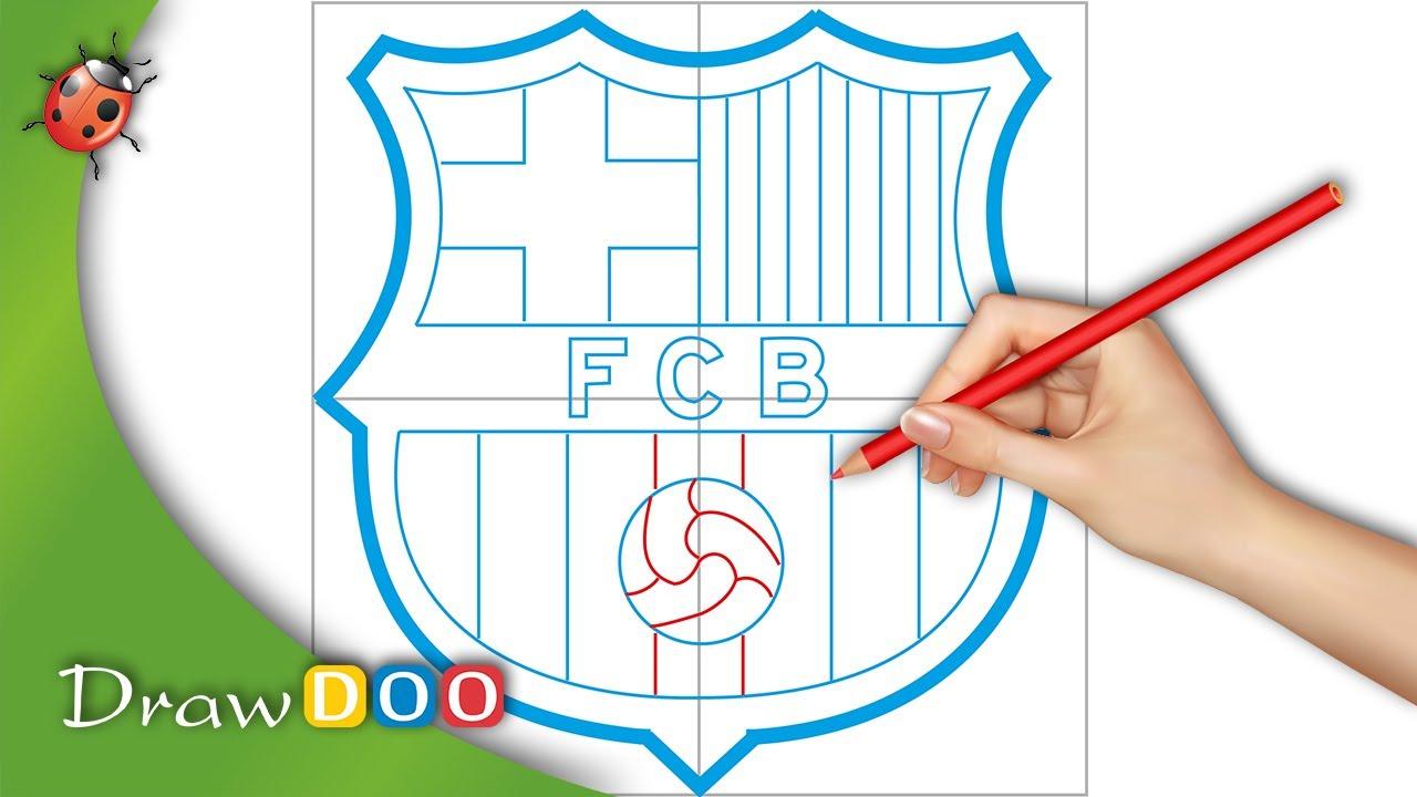 1280x720 Fc Barcelona Logo From Fifa Logos Drawing Tutorial