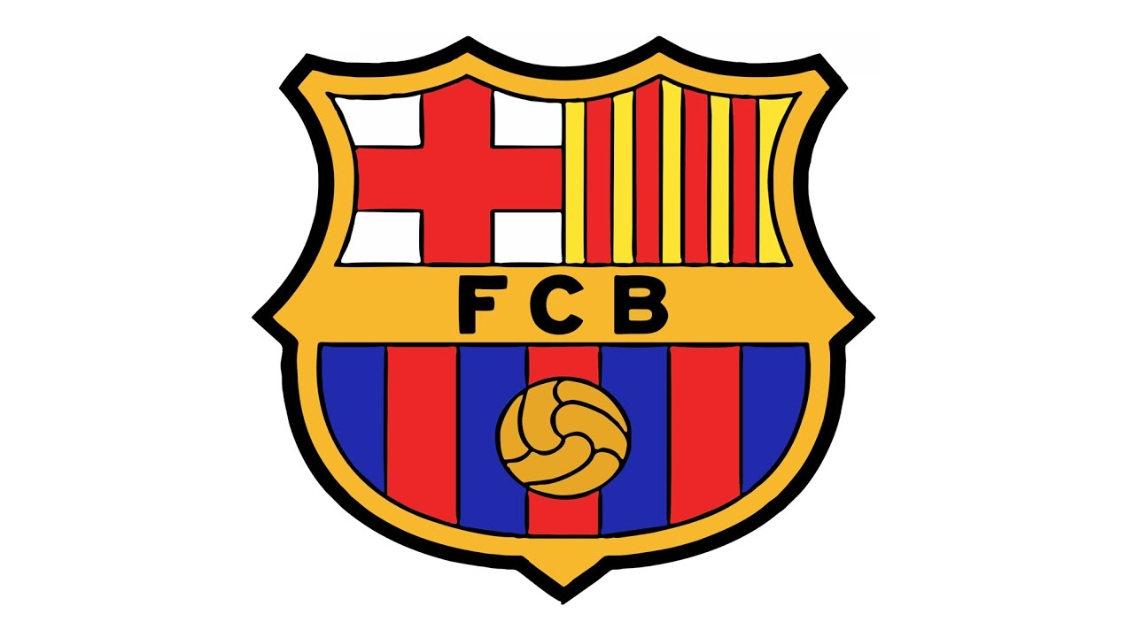 1280x720 How To Draw The Fc Barcelona Logo (Fcb)