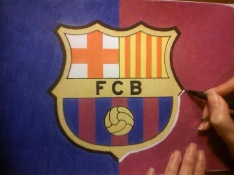 480x360 Speed Drawing Fc Barcelona's Logo Dibujo Del Logo Del Fc