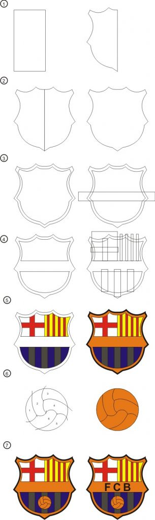 305x1024 To Draw The Logo Of Barcelona With Corel Draw Tutorial Corel