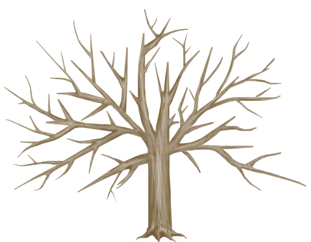 bare tree image ornate bare tree trunk with roots stock vector