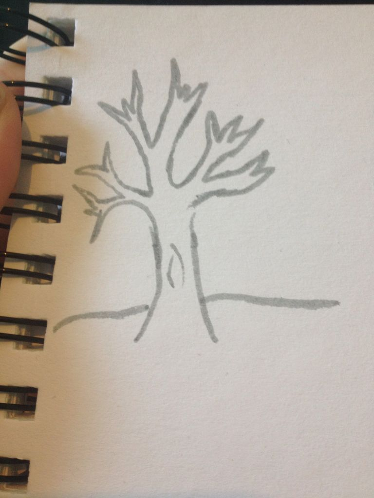 768x1024 How To Draw A Bare Tree 5 Steps