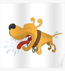 210x230 Barking Dog Drawing Posters Redbubble