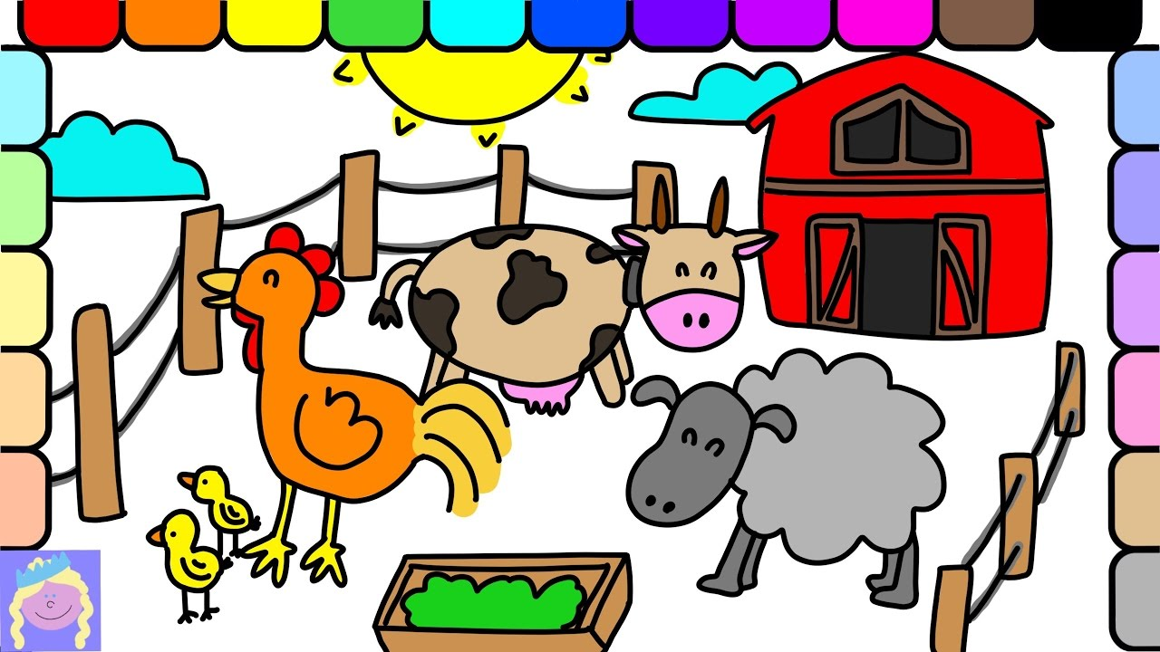 1280x720 Learn How To Draw Barn Animals With This Easy Drawing And Coloring