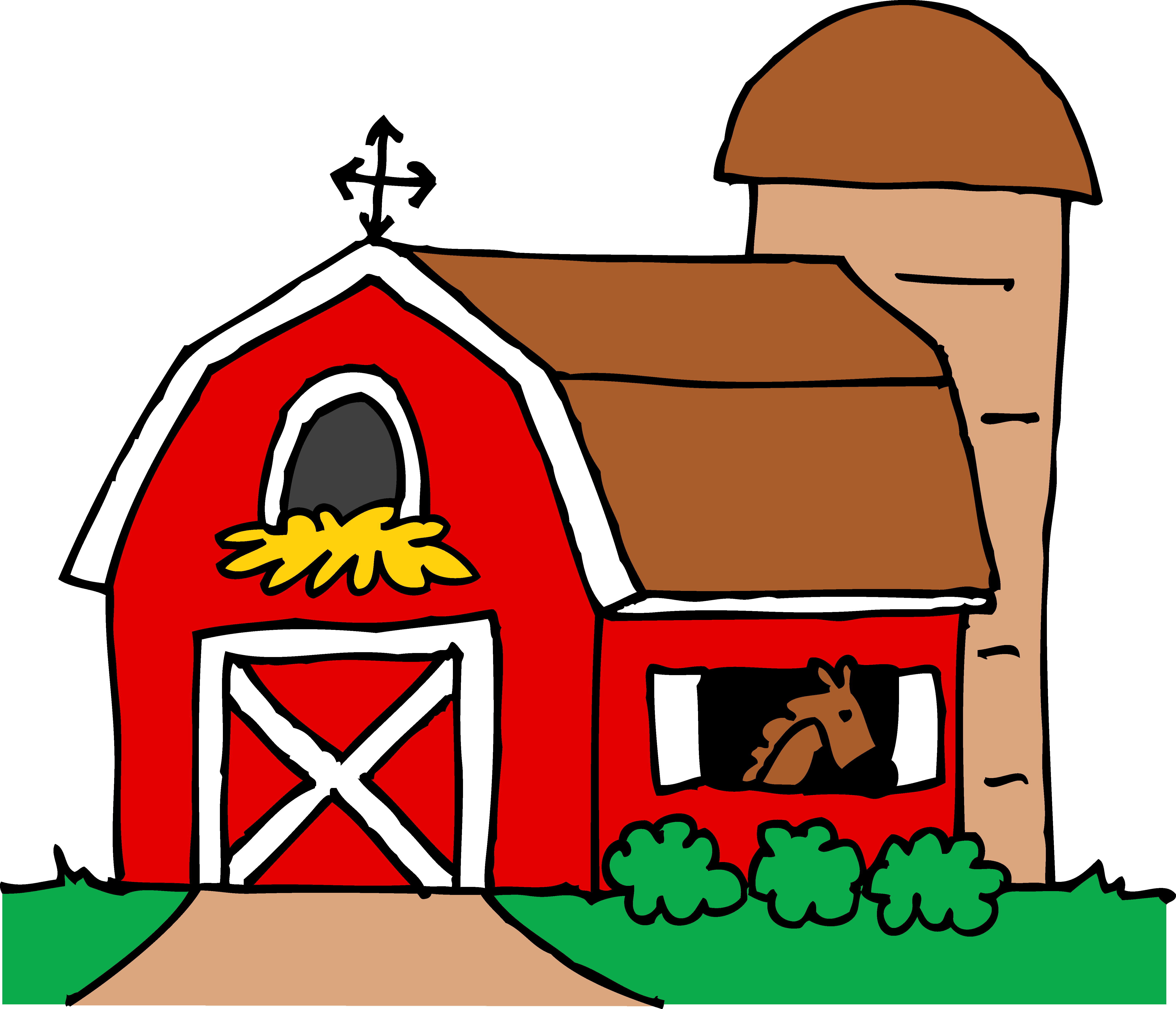 5583x4793 Little Red Barn Clipart