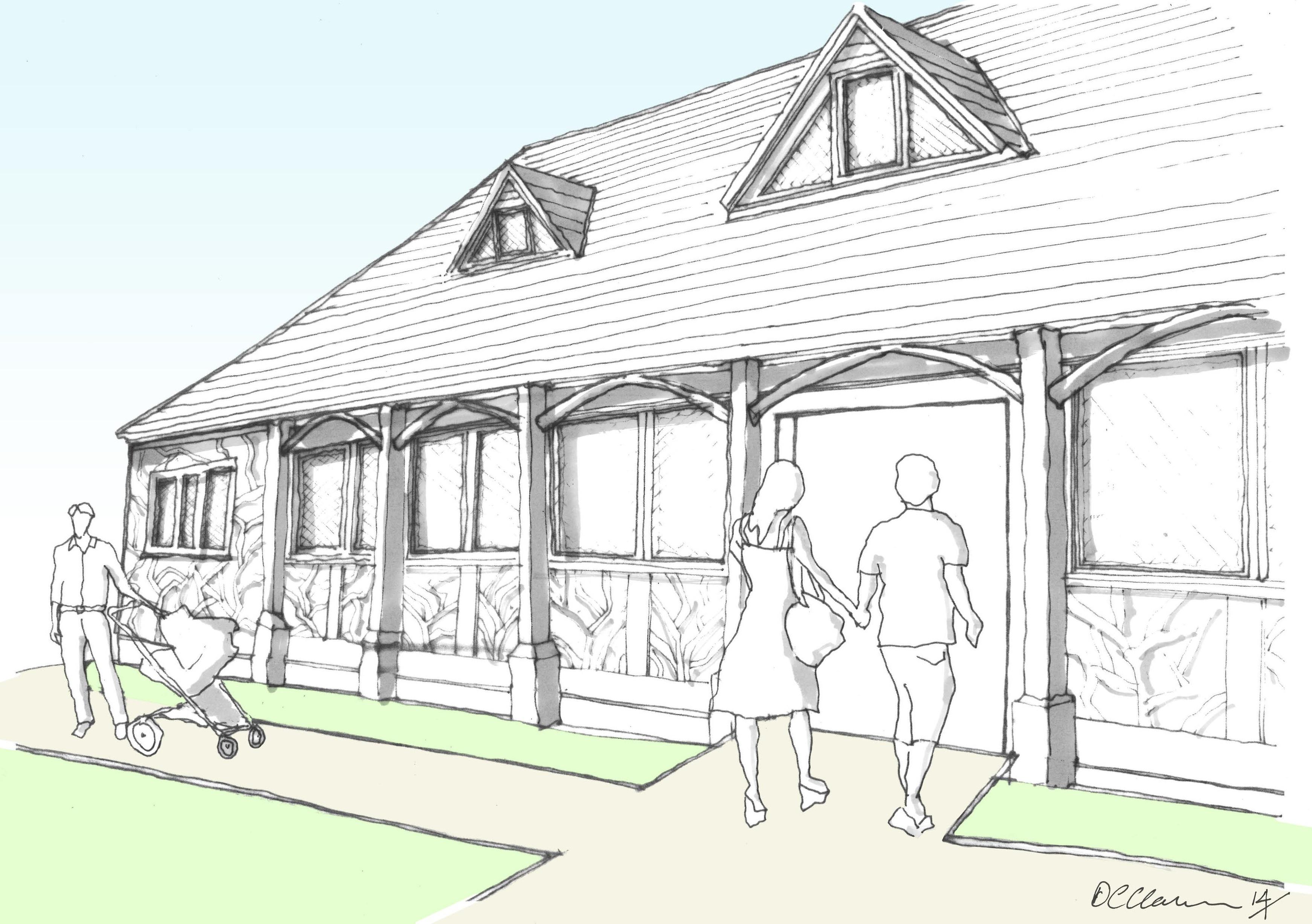 3483x2454 Farm Barn Drawing