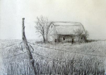 405x288 Karin Montero Pencil Barn Drawing Adult Drawing Student