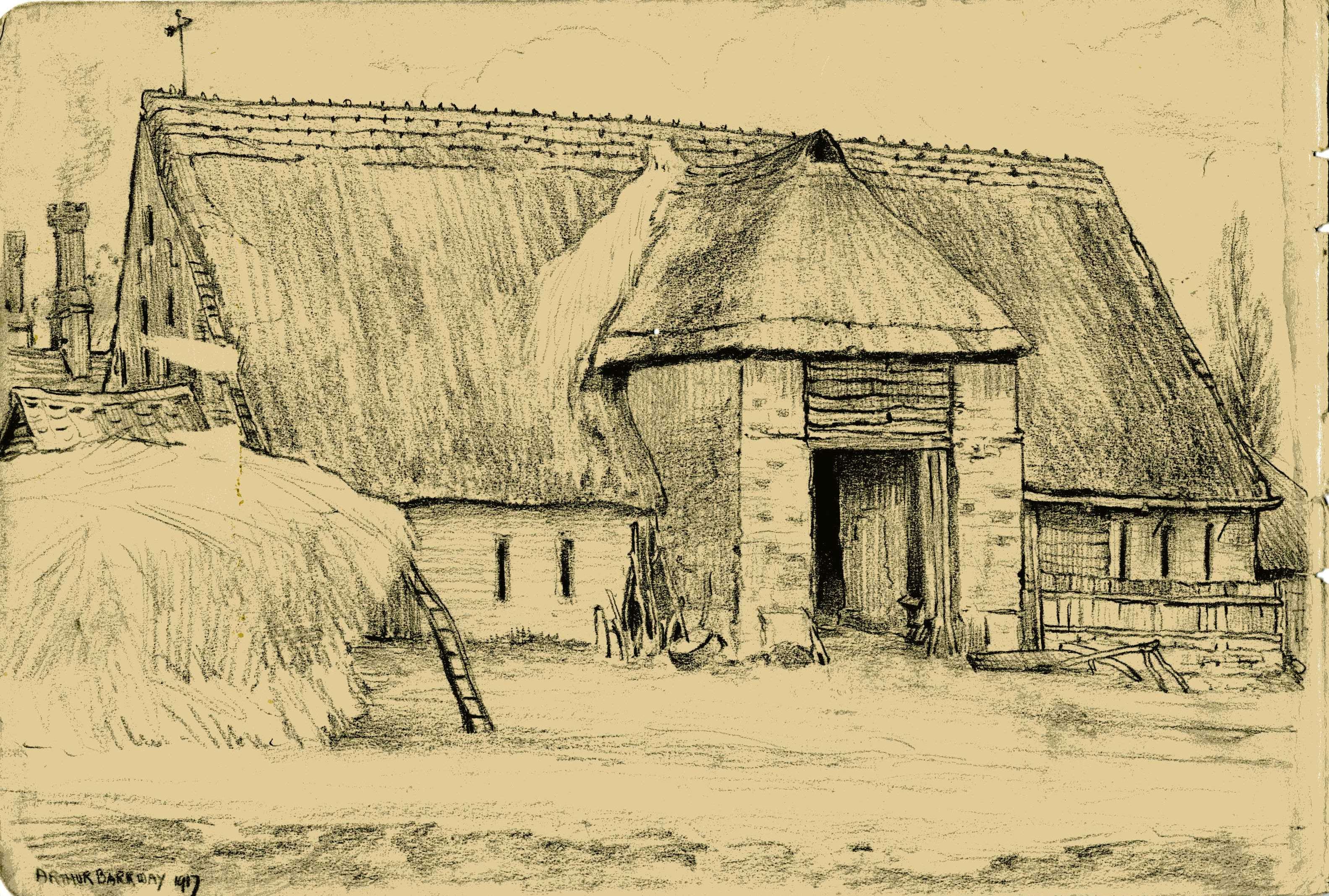3167x2135 The Old Thatched Barn Barn, Drawings And Travel Sketchbook