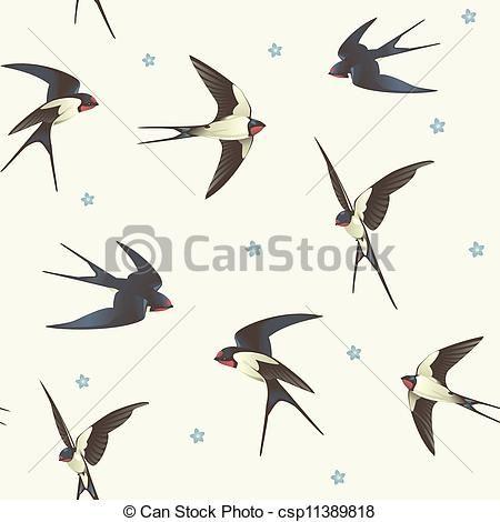 450x470 Barn Swallow Illustrations