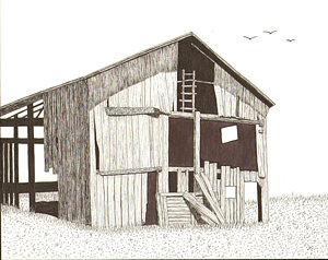 300x238 Barns Drawings