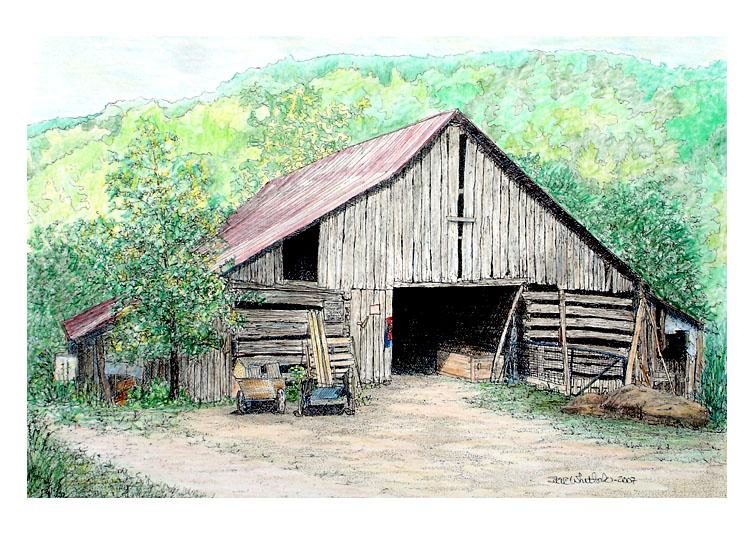 750x546 Colored Pencil Barn Colored Pencil Art And Ideas