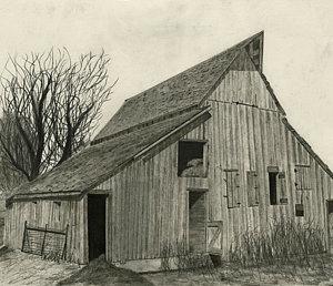 300x258 Old Barns Drawings Fine Art America