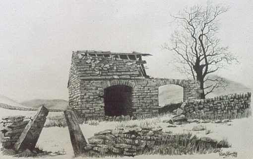 510x320 Old Weather Barns Pencil Drawings Old Barns Drawings Moorland