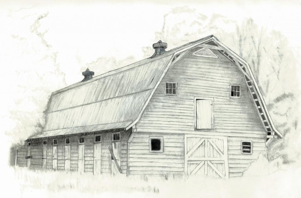 1024x675 Pencil Drawings Of Barns Line Drawings Of Barns Related Keywords