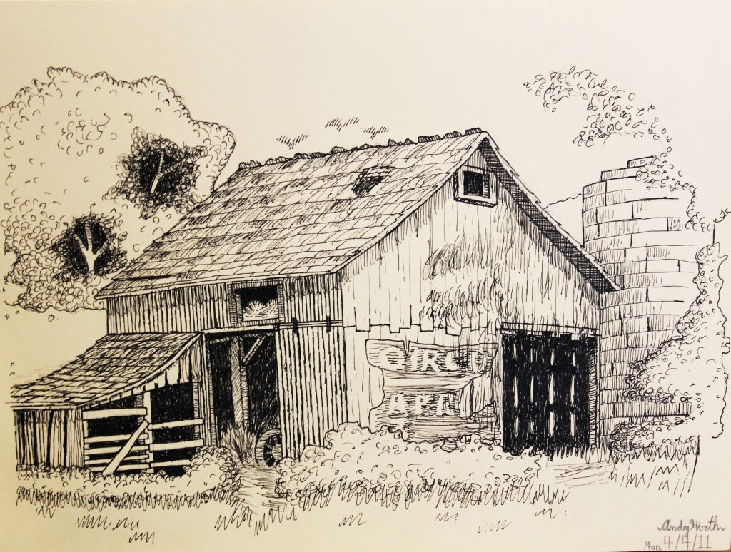 1024x774 Pencil Drawings Of Old Barns And Buildings Pen And Ink Barns