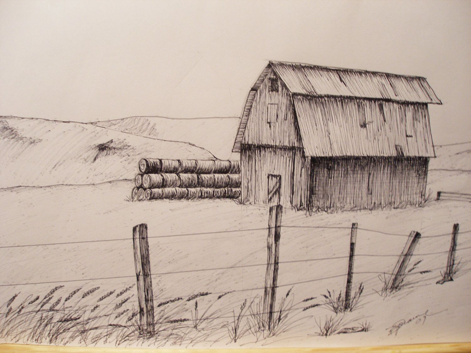 1500x1125 Images Of The Best Barn Pencil Sketches Old Barn Drawings Pencil