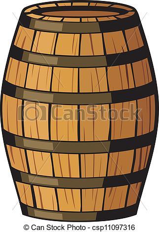 323x470 Old Barrel (Wooden Barrel) Vector Clip Art