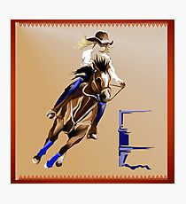210x230 Barrel Racing Drawing Photographic Prints Redbubble