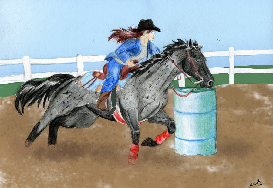 900x619 Barrel Racer Request By Nerual 56