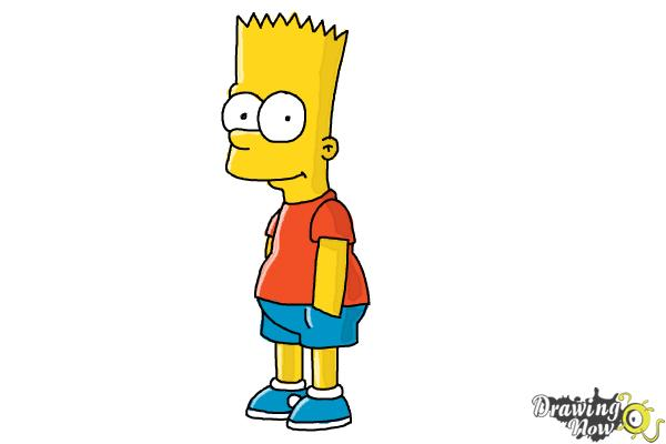 600x400 How To Draw Bart Simpson