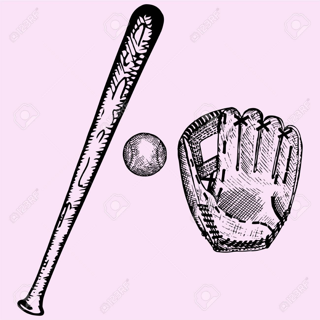 Baseball And Bat Drawing at GetDrawings.com | Free for personal use ...