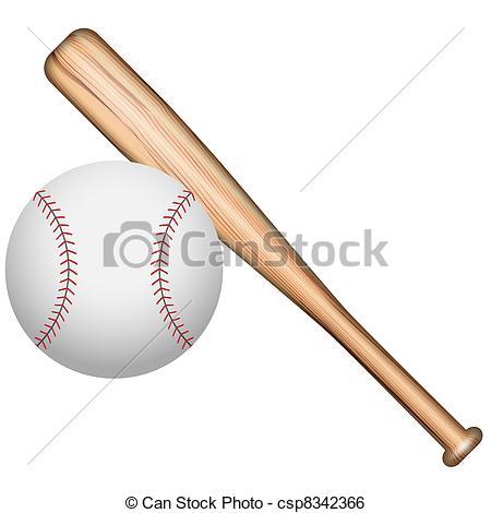 450x470 Illustration Of Baseball Bats And Balls On A White Stock