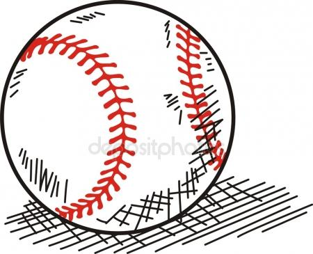 450x365 Baseball Ball. Vector Drawing Stock Vector Marinka