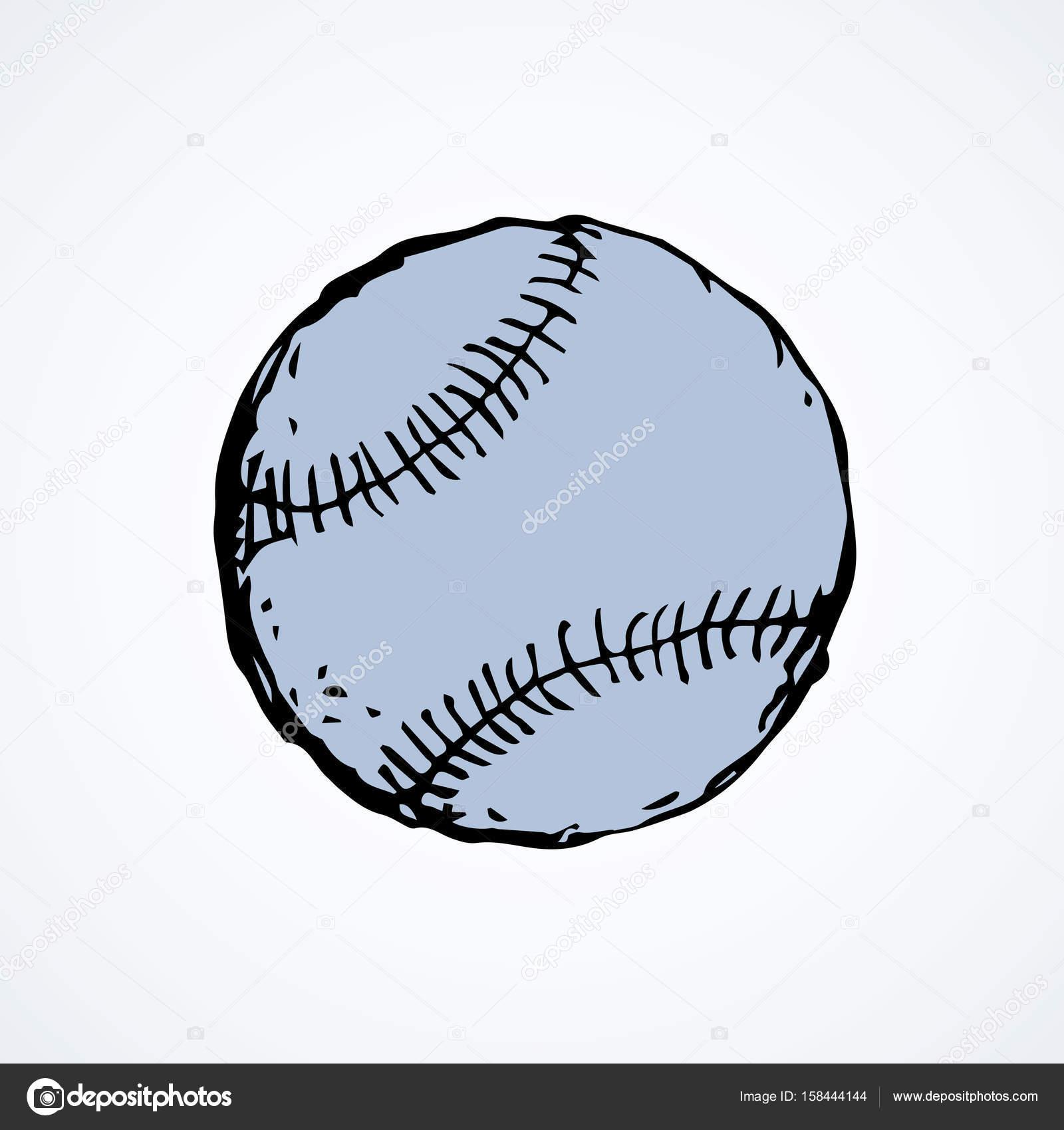1600x1700 Baseball Ball. Vector Drawing Stock Vector Marinka
