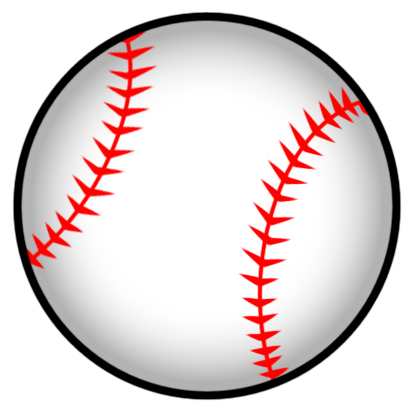 414x416 Drawn Baseball Baseball Ball