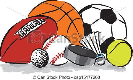 450x272 Clipart Of Sports Balls Sport Ball Digital Clipart Vector Art