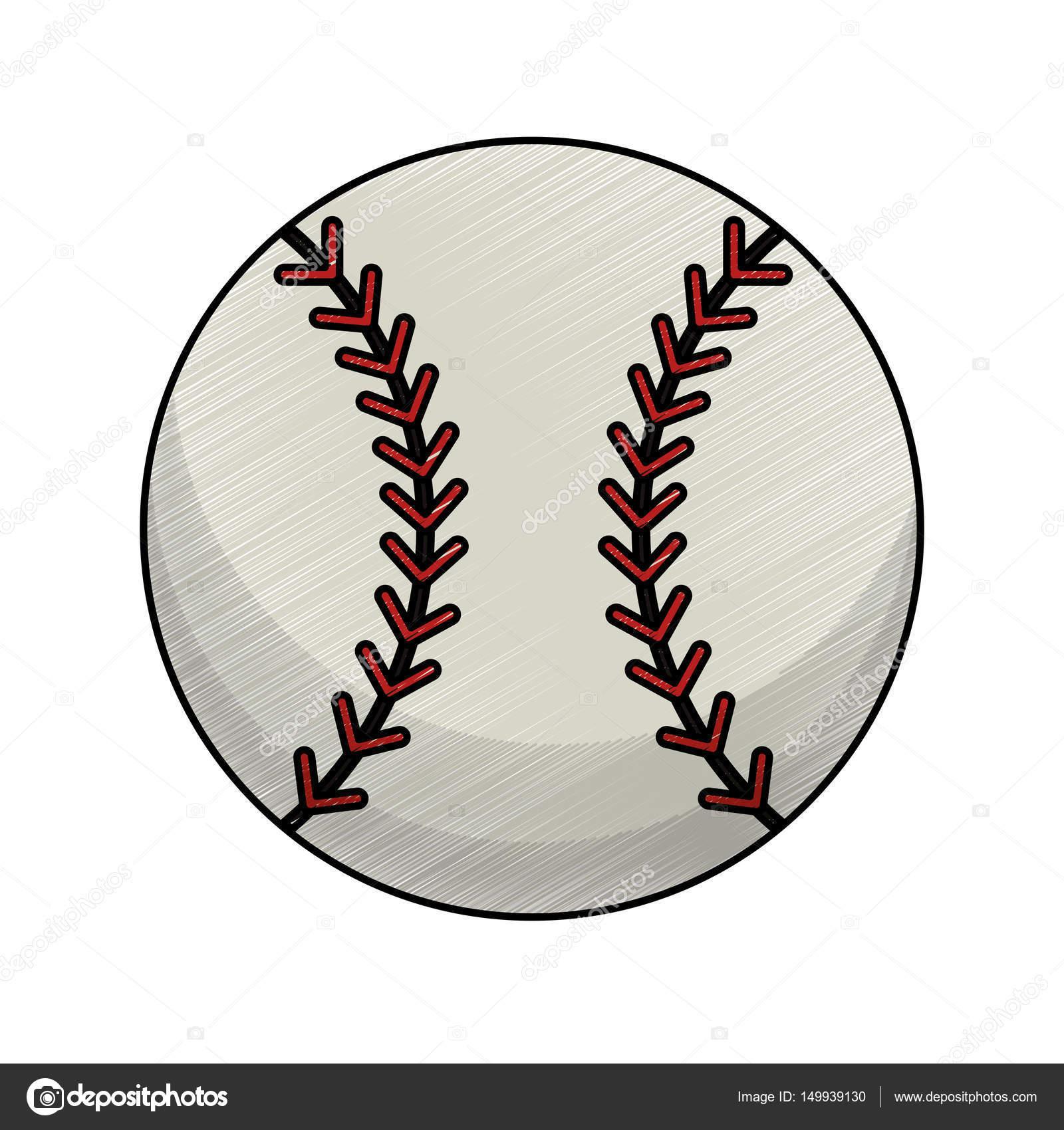 1600x1700 Drawing Baseball Ball Equipment Stock Vector Jemastock