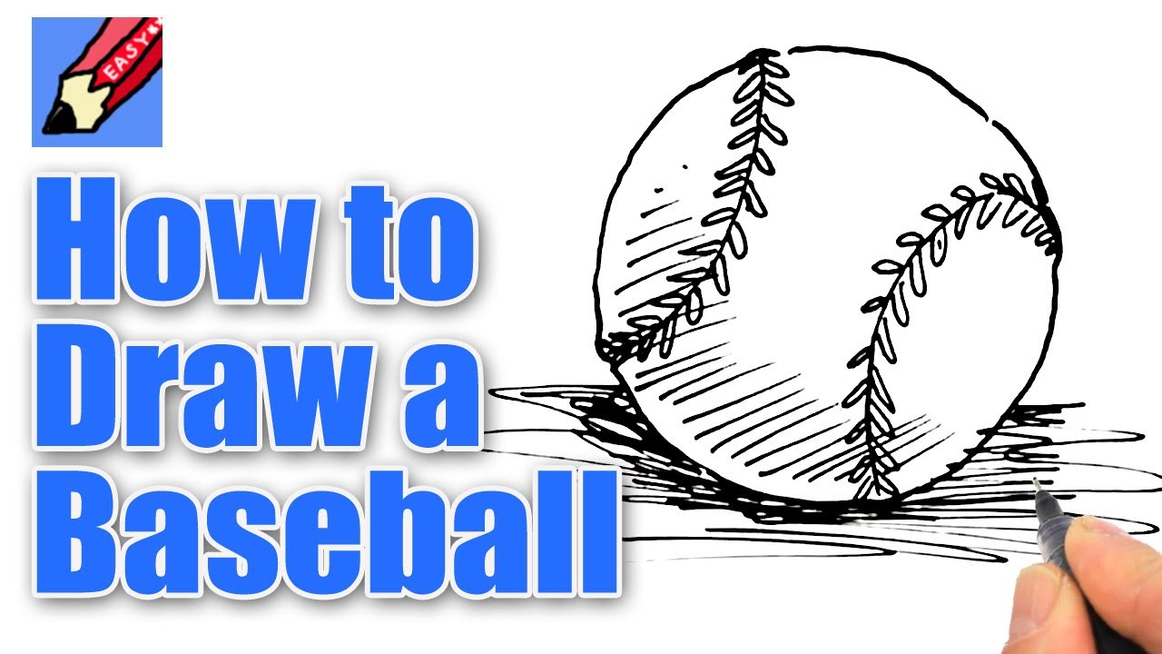 1280x720 How To Draw A Baseball Real Easy